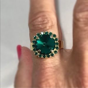 Handcrafted ring made with Swarovski crystal